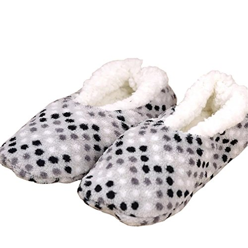 YUTIANHOME Ladies Slippers Womens Indoor Boots Washable Soft Warm Non-Slip Flat Closed Toe Home Shoes Grey Y6do8