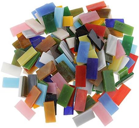 sharprepublic 混合色のモザイク・タイルガラスのモザイクは家の装飾またはDIYの技術のために、長方形、150部分合計を
