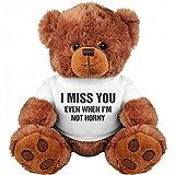 teddy bear that says i love you - Funny Teddy Bear Couple Gift: Medium Teddy Bear Stuffed Animal : I Miss You