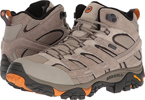 Merrell Men's Moab 2 Mid Waterproof Hiking Boot (8.5 D(M) US, Brindle) by Merrell