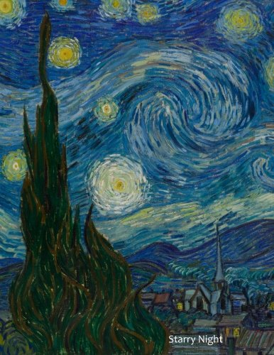 (Starry Night: By Vincent Van Gogh: A Large (8.5