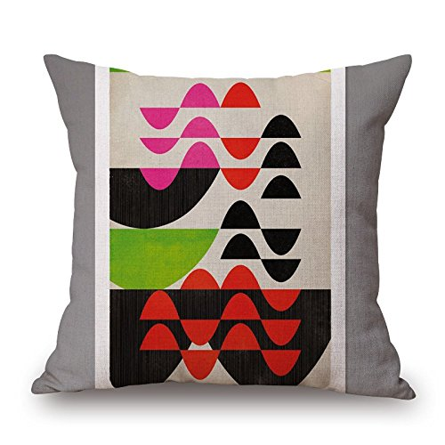[Geometric Throw Pillow Covers 18 X 18 Inches / 45 By 45 Cm For Study Room,bar,floor,boys,kids Girls,car Seat With Twin] (80s Rock N Roll Costumes)