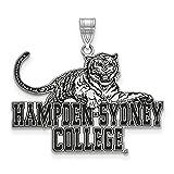 Sterling Silver LogoArt Hampden Sydney College XL Enamel Pendant
