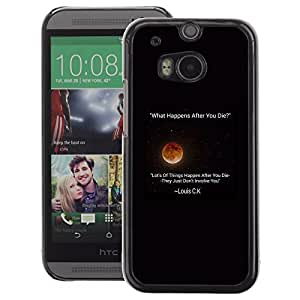 A-type Arte & diseño plástico duro Fundas Cover Cubre Hard Case Cover para HTC One M8 (Moon Stars Stand Up Comedian Quote Louis)