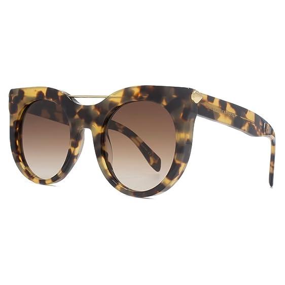 Alexander McQueen Piercing Bar Sonnenbrille in Havanna AM0001S 007 52 52 Brown Gradient 3WIla