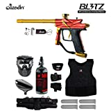 zephyr chest protector - MAddog Azodin Blitz 3 Starter Protective HPA Paintball Gun Package - Green