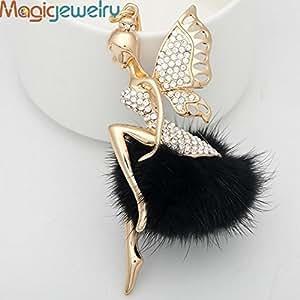 MySecret Vintage Crystal Fairy Fur Keychain Keyring Fashion Rhinestone Trinket Metal Key Chain for Women Bag Gift Charms Pendant Jewelry