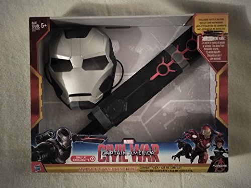 Hasbro Year 2015 Marvel Captain America Civil War Series Accessory Set - WAR MACHINE Combat Pack Kit with Mask and Foam Battle Baton