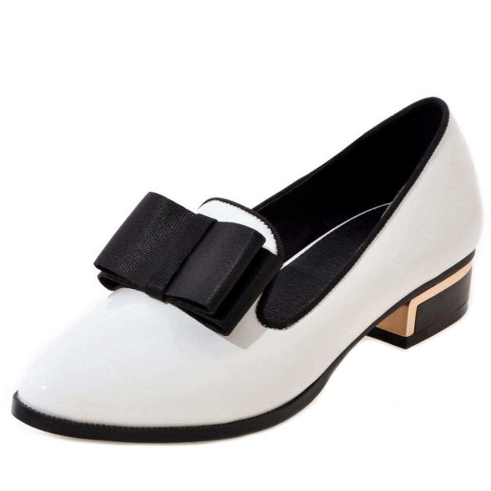 Zanpa Donna Moda Piatto Brogues Pointed Toe  1#White