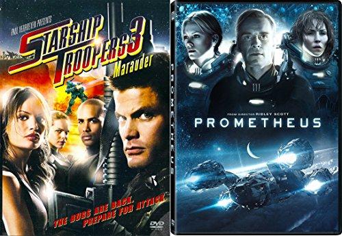 Prometheus & Starship Troopers 3: Marauder Sci-Fi Aliens DVD Movie Set