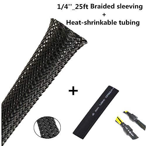 PET Expandable Braided Sleeving 1/4