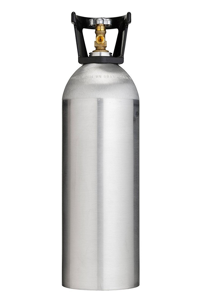 Cyl-Tec 20 lb CO2 Tank - New Aluminum Cylinder with CGA320 Valve and Carry Handle. by Cyl-Tec