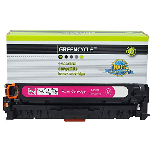 - GREENCYCLE Compatible 304A CC533A Magenta Toner Cartridge Replacement for Color Laserjet CP2025 CP2025N CP2025DN CM2320 CM2320N MFP CM2320NF MFP CM2320FXI MFP Printer