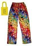Emoji Faces & Treats Big Girls' Lounge Pants & Tote Multi-Pack (Medium, Multicolored)