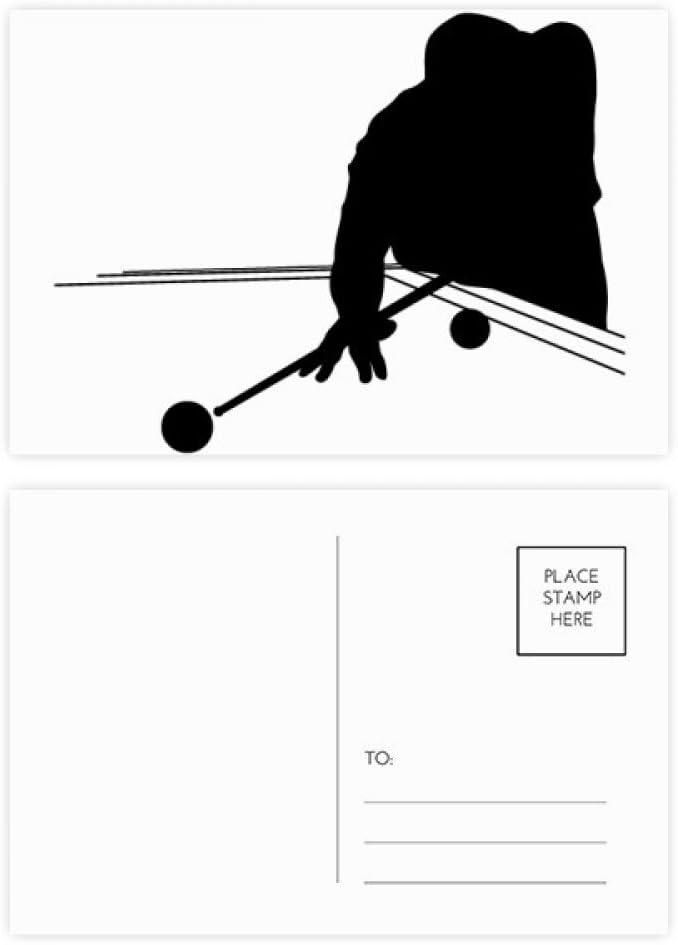 DIYthinker Deportes Billar Educación Física postal Conjunto de ...