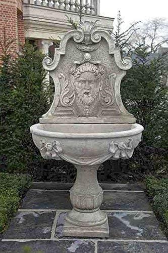 pompidu-living Fuente, Pozo Jardín, Fuente Ornamental, Fountain, H 185 - Gris Claro: Amazon.es: Jardín