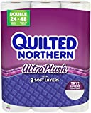 Quilted Northern Ultra Plush Double Roll Toilet Tissue-White-24 ct