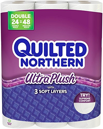 Quilted Northern Ultra Plush Double Roll Toilet Tissue-White