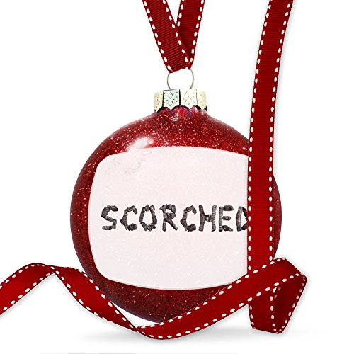 Christmas Decoration Scorched Coal Grill Fire Place Ornament by NEONBLOND