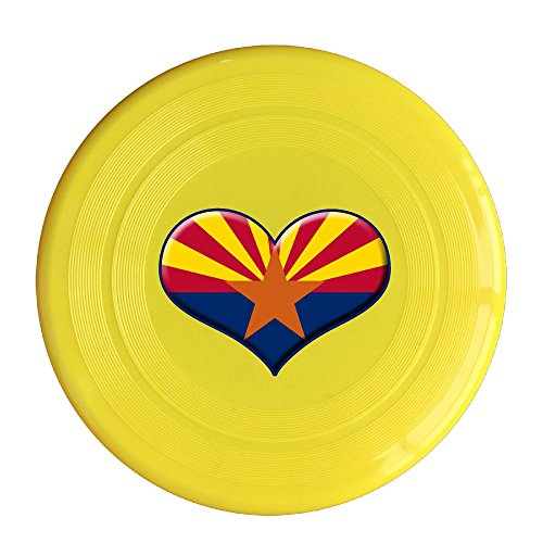 Detroit Red Wings Next Game (YYHU - Plastic Heart Of Arizona Flag Frisbee Disk/disc - Yellow)