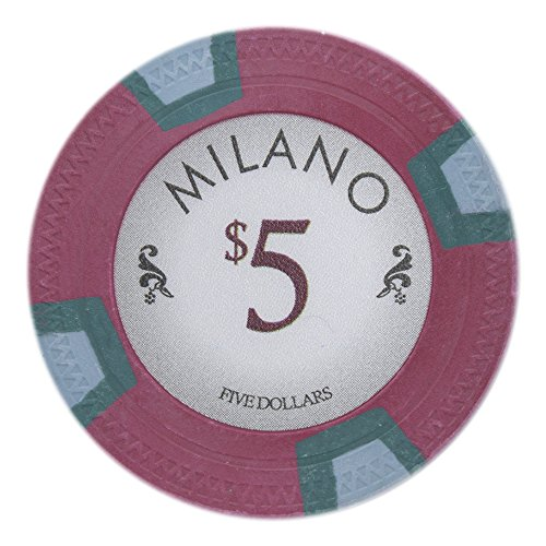 Claysmith Gaming Milano Poker Chip Lightweight 10-gram Casino Clay - Pack of 50 ($5 Red)