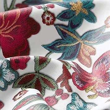 wollweiss /— Meterware ab 0,5m /— zum N/ähen von Jacken Fabulous Fabrics Lederimitat Stickerei Optik M/äntel und R/öcke