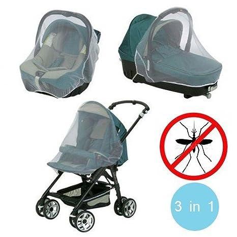 3en1 Mosquitera para el carrito de paseo/Sillita coche/Moisés-Medida universal: Amazon.es: Bebé
