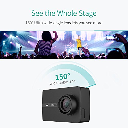 51CsZTeLP2L - YI Lite Action Camera, Sony Sensor 16MP Real 4K Sports Camera with Built-in WiFi, 2 Inch Touchscreen,150° Wide Angle Lens and EIS- Black