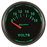 Auto Meter 3892 GS 2-1/16'' 8-18V Short Sweep Electric Voltmeter