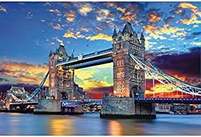Tomoving 1000 Pieces Jigsaw Puzzles for Adults Puzzles 1000 Piece Jigsaws for Adults Puzzle Adult London Tower Bridge...