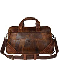 Leather Travel Duffel Bag Overnight Weekend Luggage Carry On Underseat Airplanes