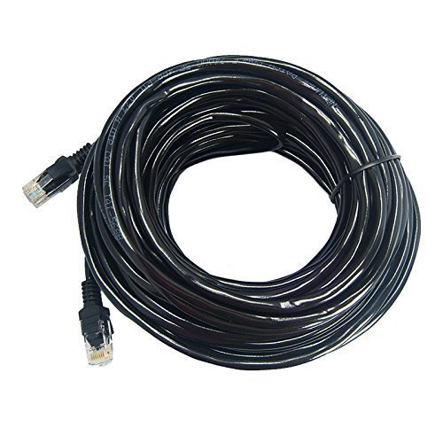 Woodsam (TM) BLACK 25FT CAT5 CAT5e RJ45 PATCH ETHERNET NETWORK CABLE Photo #1