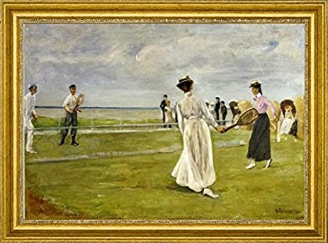 Amazon.com: Tennis Game by the Sea by Max Liebermann - 16\