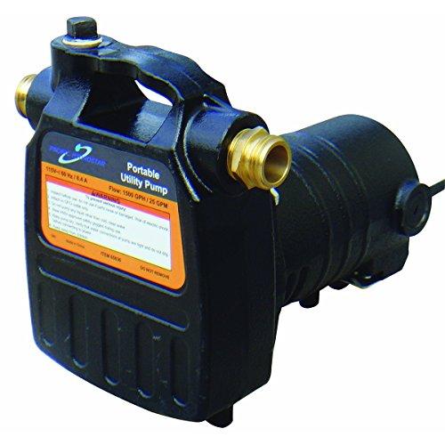 Portable Utility Pump 1 HP, 1500 GPH, 120 ft. lift, 120V,...