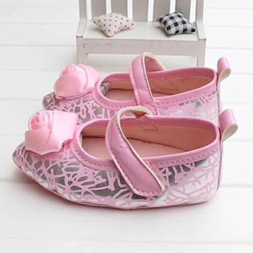 Clode® Niedlich Baby Mädchen PU-Leder Schuhe Lässige Schuhe Weiche Alleinigen Schuhe Prinzessin Schuhe (11/0 ~ 6 Monate, Rosa)
