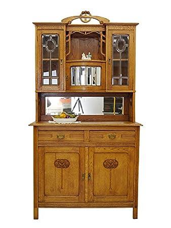 Buffetschrank Küchenschrank Schrank Antik Jugendstil Um 1900 Eiche