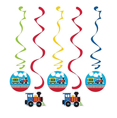 Creative Converting 324343 Train Dangling Party Decorations Danglers, Multisizes, Multicolor
