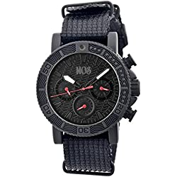 MOS SP102 Sao Paulo Mens Watch, black Band, Black Bezel, Black Markers, Black Face