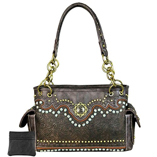 Berry Tooled Mujer 8085 Montana Mw Concho amp; Coffee 2028 West qqYB8wg