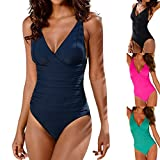 Swimsuits for Women,Womens Swimming Tankini Padded Swimsuit Monokini Push Up Bikini Sets Swimwear Black