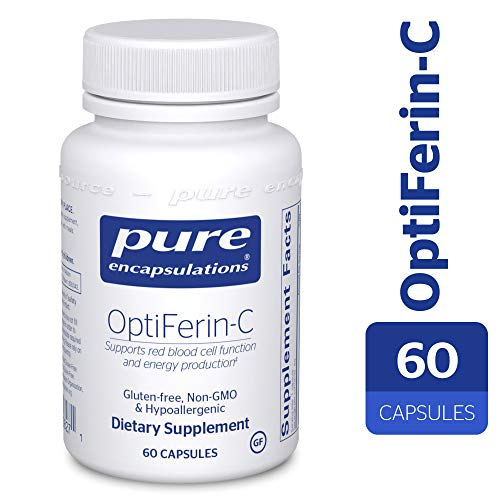Pure Encapsulations - OptiFerin-C - Hypoallergenic Dietary Supplement with Enhanced Iron Absorption - 60 Capsules