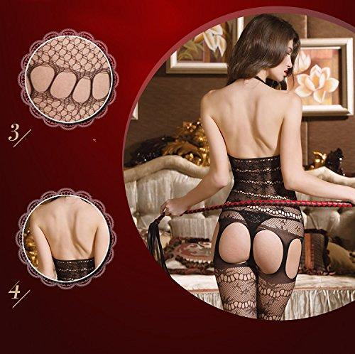 DSC Sexy Sexy Unterwäsche Women s Free From Liebelei Transparent Versuchung Net Kleidung Anzug Hohl Öffnen Adult Schrittgurt Siamese Strümpfe Uoz1vXyXg