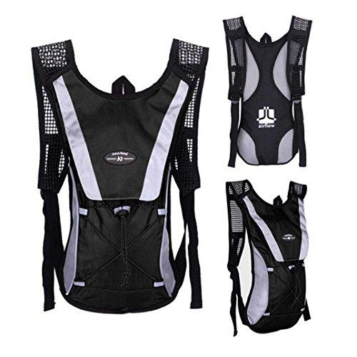 Water Bladder Bag Backpack???? Packs Hiking Camping 2L Black - 8