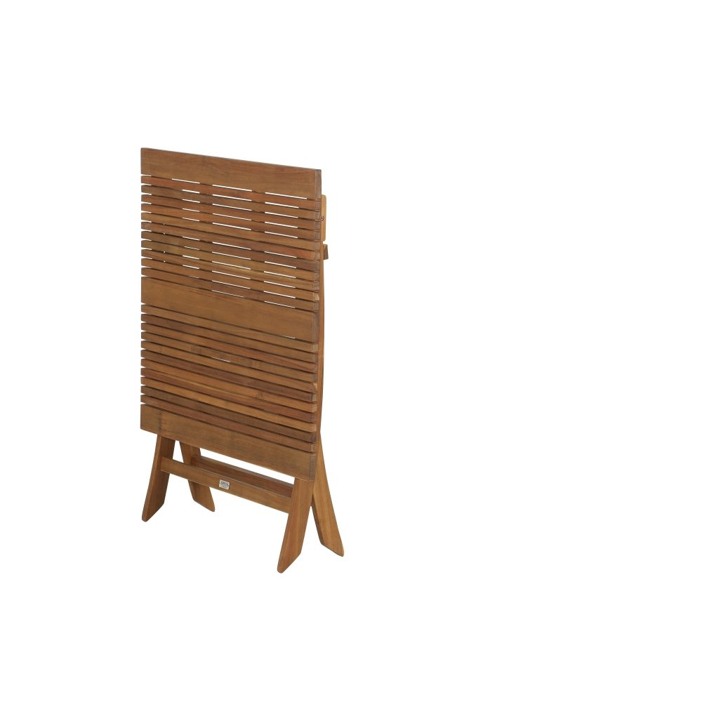 Siena Garden GFA-COC-001447 Falun Table en Acacia FSC avec ferrures en Acier galvanis/é 80 x 80 cm