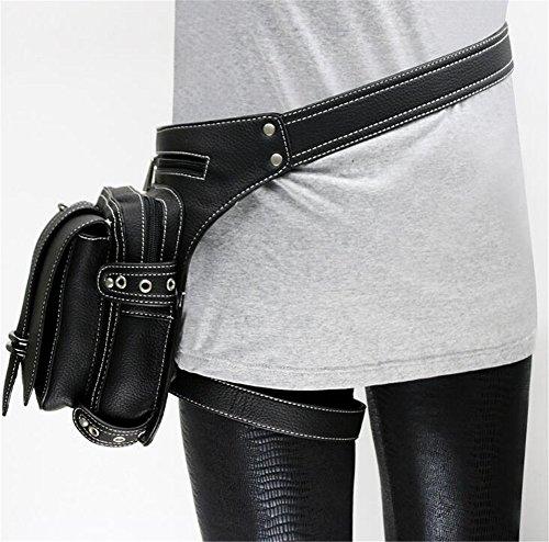 Retro Rock Taille Tasche Vintage Gothic Punk Leg Pack Damen Steampunk Punk gYD8d