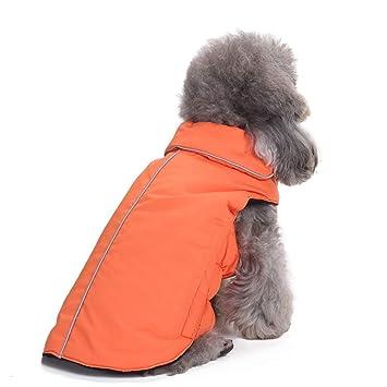 Xinsizibei Abrigos para Mascotas para Perros Ropa para Mascotas Ropa de Perro Reflectante Ropa para Mascotas Ropa de Invierno (Color : DZ153 Orange, ...