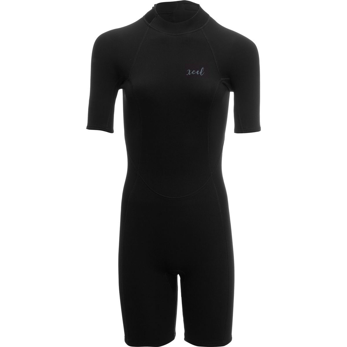 Xcelハワイ2 mm Doreen back-zip Springsuit – Women 's B06Y69R2GW 4|ブラック ブラック 4