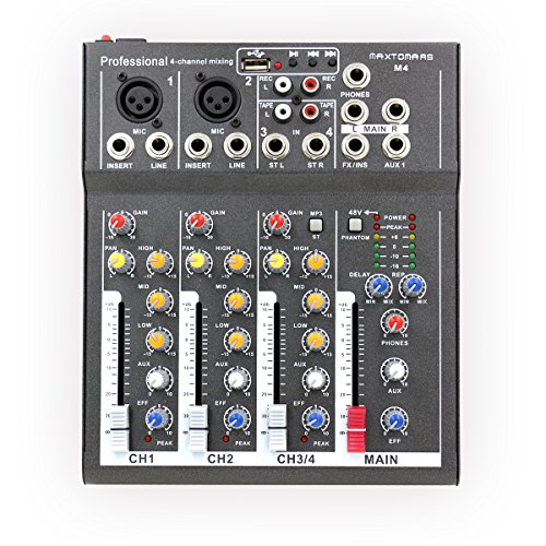 MAXTOMARS 4 Channel Mic Line Professional Console product image