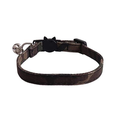 quanjucheer Collar de Camuflaje para Perro, Cachorro, Gato, Correa ...