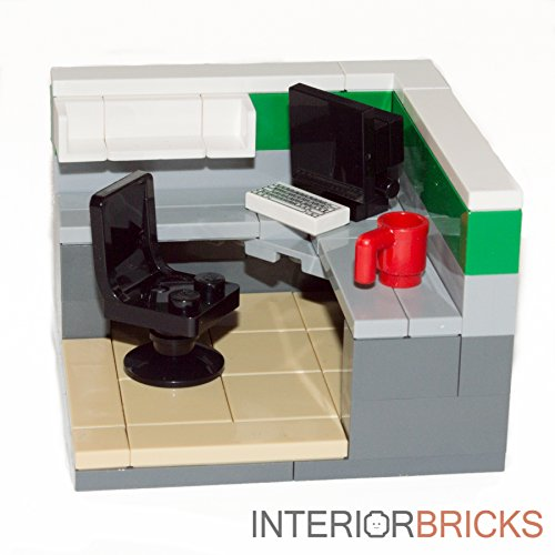 Cheap  Custom LEGO® Furniture: Office Cubicle Set : Gray & Green